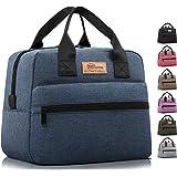 HOMESPON Sac Isotherme à Repas Grande Capacité Lunch Bag Portable en Tissu Imperméable Givré Sac à Main pour Femmes Hommes et
