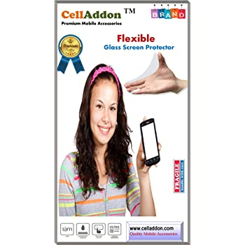 CellAddon Premium Flexible Ultra Thin 9H Hardness, 2.5D HD Clear Glass Screen Protector for HTC One M8