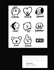 BT21 College Ruled Composition Notebook