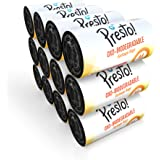 Amazon Brand - Presto! Oxo-Biodegradable Garbage Bags, Medium (19 x 21 inches) - 30 bags/roll (Pack of 12, Black)