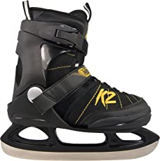 K2 Kinder Schlittschuhe Joker ICE schwarz-gelb 2530902.1.1 Eislaufschuhe Ice Skates Eishockey-Schlittschuhe Fitness verstellbar
