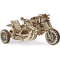 UGEARS Moto en Bois à Construire – Kit de Bricolage – Miniature Mécanisée Fonctionnante – Moteur à Elastique et Grande…