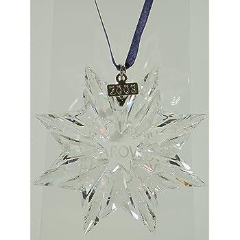 swarovski weihnachtsornament jahresstern 2011 kristall 7 5. Black Bedroom Furniture Sets. Home Design Ideas