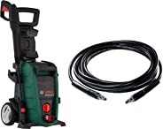 Bosch Aquatak 130 1700-Watt High Pressure Washer (Green) with F016800360 6m High Pressure Hose (Black) Combo