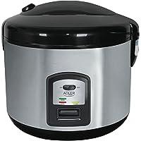 Adler AD 6406 Cuiseur à riz 1000 W, 1.5 liters, Noir, Acier Inoxydable