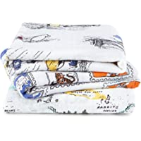 aden + anais musy squares 100% cotton muslin Winnie The Pooh 3-pack