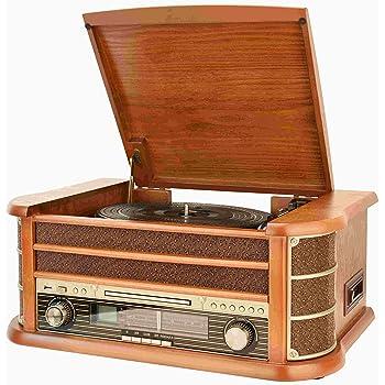 dual nr 4 nostalgie musikanlage mit plattenspieler ukw. Black Bedroom Furniture Sets. Home Design Ideas
