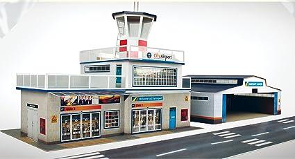 The CityBuilder Airport Model Making Kit (Blue)