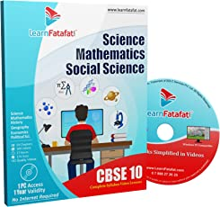CBSE Class 10 Maths, Science and SST Full Course (DVD)