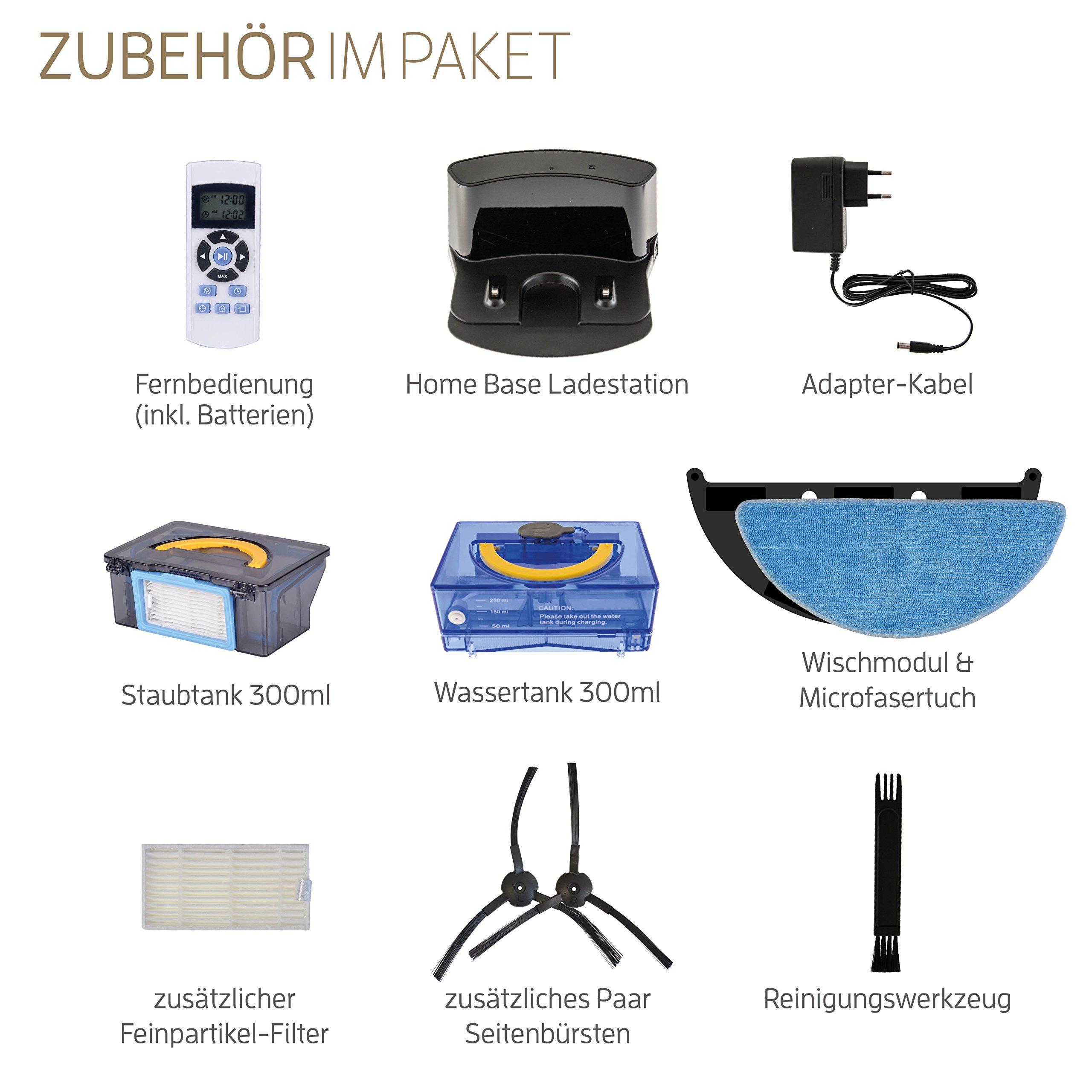 ZACO V5sPro Saugroboter mit Wischfunktion, automatischer Staubsauger Roboter, 2in1 nass Wischen bis zu 180qm oder…