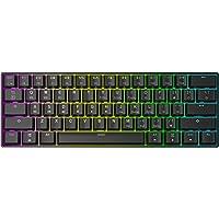 GK61 Tastiera meccanica da gaming, 61 tasti, multicolore RGB illuminata LED ( Nero, Gateron Optical Brown )