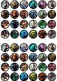 48 League Of Legends, LOL, Essbare PREMIUM Dicke GEZUCKERTE Vanille, Reispapier Mini Cupcake Toppers, Cake Pops, Cookies für Wafer