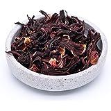Fleurs d'hibiscus bio – 1kg – fleurs entières – idéales pour le thé aux fleurs d'hibiscus – séchées au soleil et naturelles –