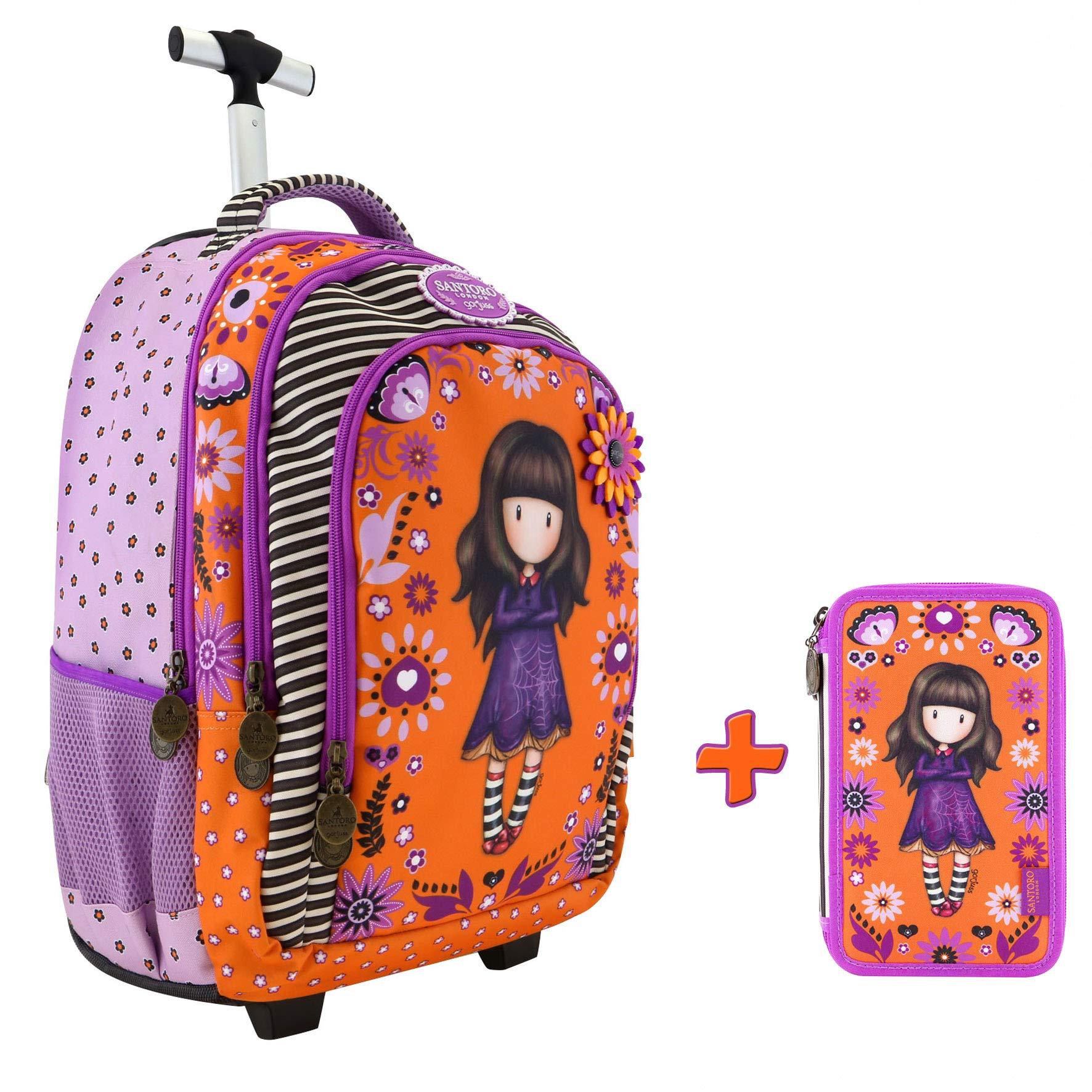 nuova collezione 7574f d7f1e Santoro Gorjuss Schoolpack Zaino Trolley + Astuccio 3 Cerneiere Completo Di  Cancelleria Collezione Scuola 2019-20 - FACESHOPPING
