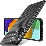 Luibor Funda Samsung Galaxy A52, Absorción de Golpes Anti-Rasguños Suave Esmerilado Negro Mate Carcasa Samsung Galaxy A52