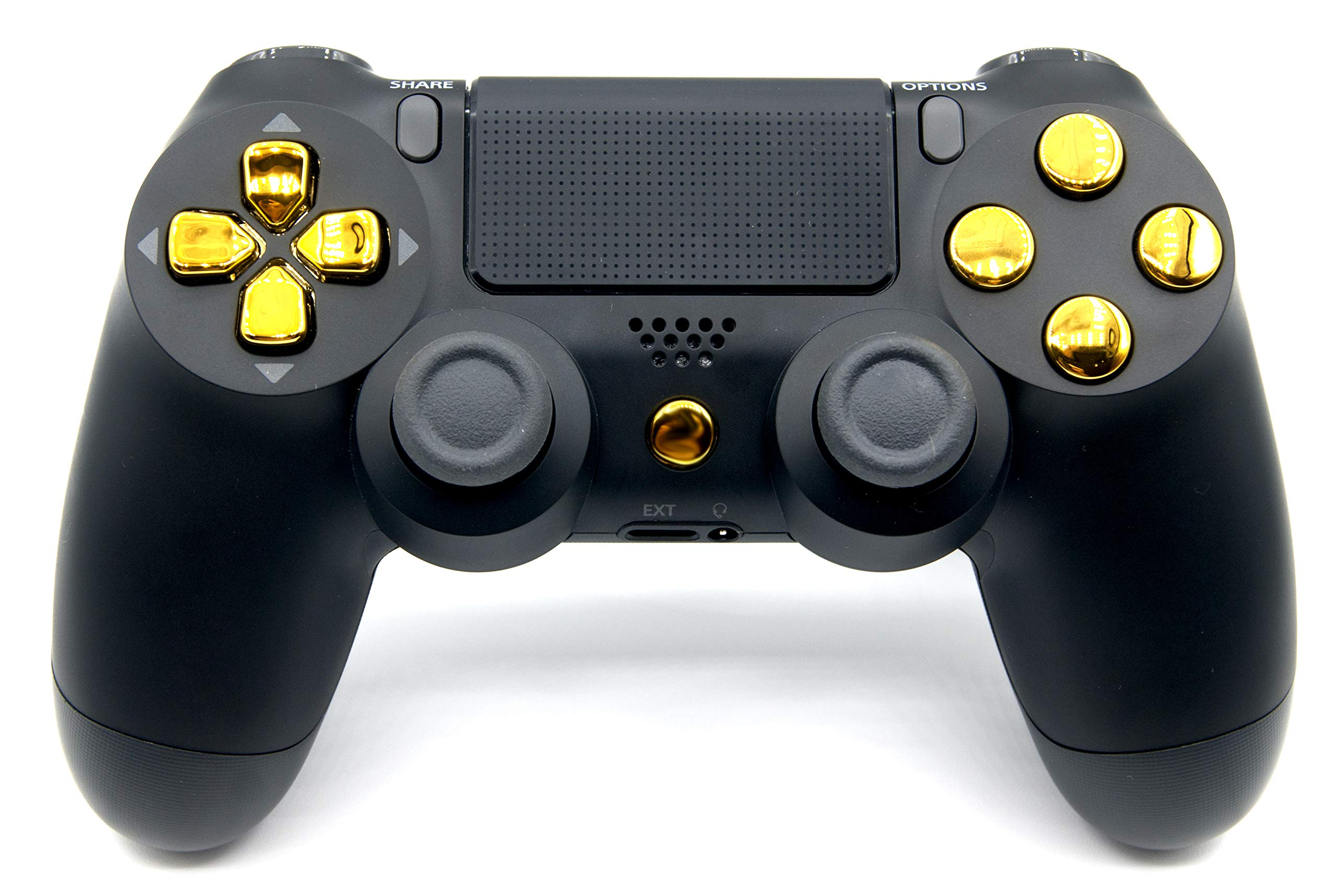 Black/Gold PlayStation 4 V2 (new version) Rapid Fire Modded Controller for COD Black Ops3, Infinity Warfare, AW, Destiny, Battlefield: Quick Scope, Drop Shot, Auto Run, Sniped Breath, Mimic, More