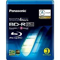 Panasonic LM-BRU25LAE3 25GB Write Once Blu-ray Media 1-4xSpeed Video Box -3 per Pack