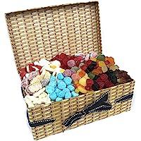 Retro Sweet Hamper - 1.2KG Sweet Box Full of All Time Favourites - Wine Gums, Bonbons, Cola Bottles, Fried Eggs