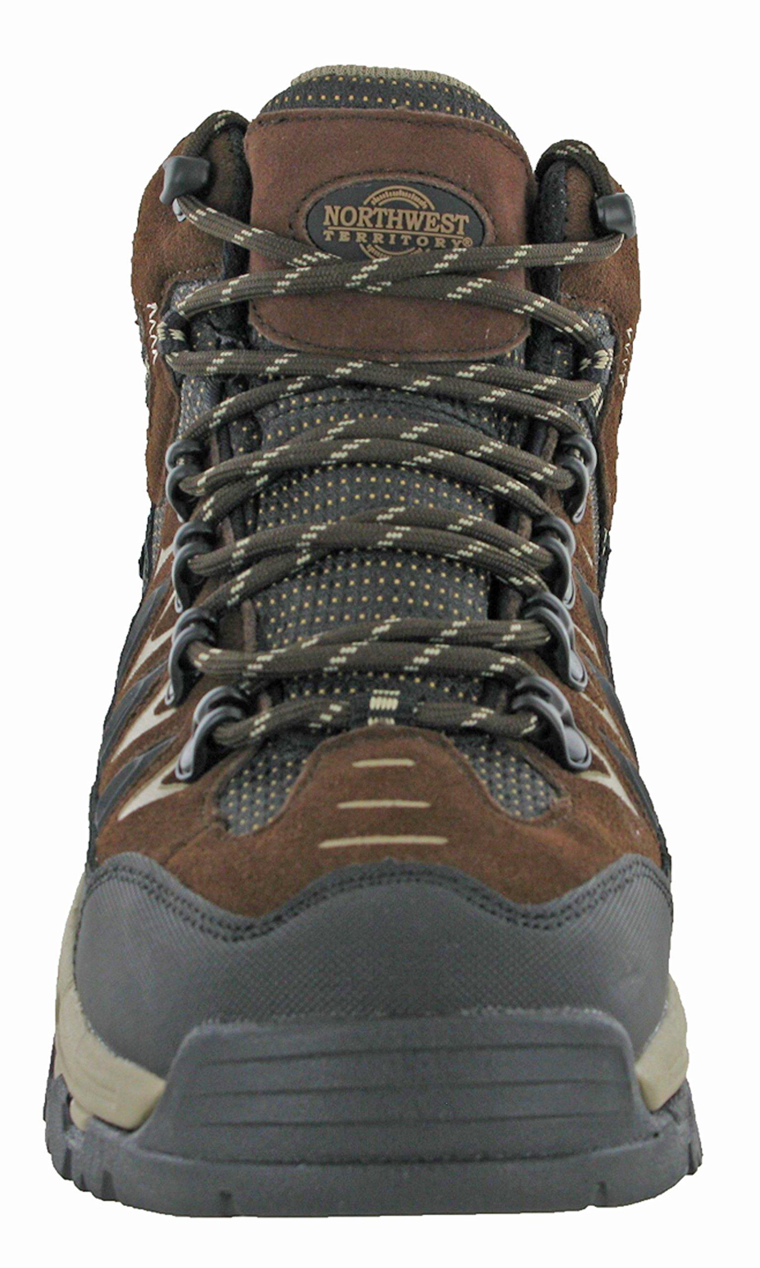 Northwest Mens Piers Hi Cut Brown/Beige Ankle Walking Boots 2