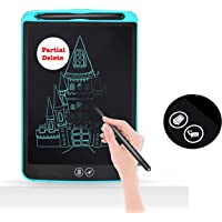 Proffisy E Pad LCD Writing Tablet with Selective Erasure Function 8.5 Inch Electronic Writing Board Doodle and Scribble Board Magnetic Notes for Kids Adults with 2 Magnet (Partial Delete - Blue)