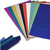 30 feuilles de papier pailleté A4, papier pailleté auto-adhésif bricolage, utilisé pour l'artisanat pour enfants, cartes de s
