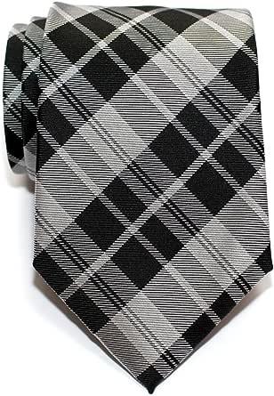 Retreez Modern Tartan Check Styles - Cravatta da uomo in microfibra