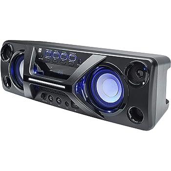 mobiles soundsystem ukw radio stereo lautsprecher mikrofon led lichteffekte bluetooth. Black Bedroom Furniture Sets. Home Design Ideas