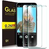 KuGi Huawei Y6 2018 Schutzfolie, 9H Panzerglas Hartglas Glas Display Schutzfolie [Blasenfrei] [HD Ultra] [Anti-Kratzer] Displayschutzfolie Displayschutz Für Huawei Y6 2018 Smartphone. (Clear)