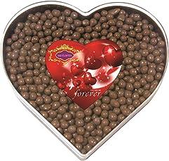 Skylofts Sweet Chocolate Coated Butterscotch Nutties 400Gms Heart Box