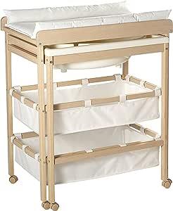 roba Combinaison baignoire table à langer en bois naturel