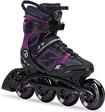 K2 Damen Fitness Inline Skates VO2 90 Boa W, Schwarz-Lila, 30C0119.1.1
