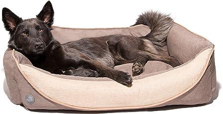 Pets&Partner Hundekissen | Hundebett | Hundekorb aus Leinenmaterial, Waschbar, Hunde Körbchen für Kleine, Mittlere bis große Hunde