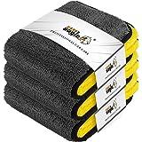 EASY EAGLE Panno Asciugatura Auto, 1200GSM Panno in Microfibra, Panni per Lucidatura per la Cura del Moto o la Casa, 38x44CM, 3 Pezzi