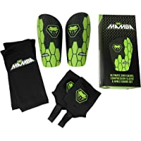 Mamba Ultimate Shin Pad Set | Shin Pads, Ankle Guards & Compression Sleeves, Flexibility & Protection | Kids/Adults…