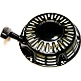 HOLZER Trekstarter voor 5,5 pk - 6,5 pk benzinemotoren, trekstarter, reverter-starter, handstarter, Recoil/zwart
