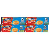 McVitie's Digestive High Fibre Biscuits with Wholewheat and Zero Added Sugar, 150g (Pack of 4)