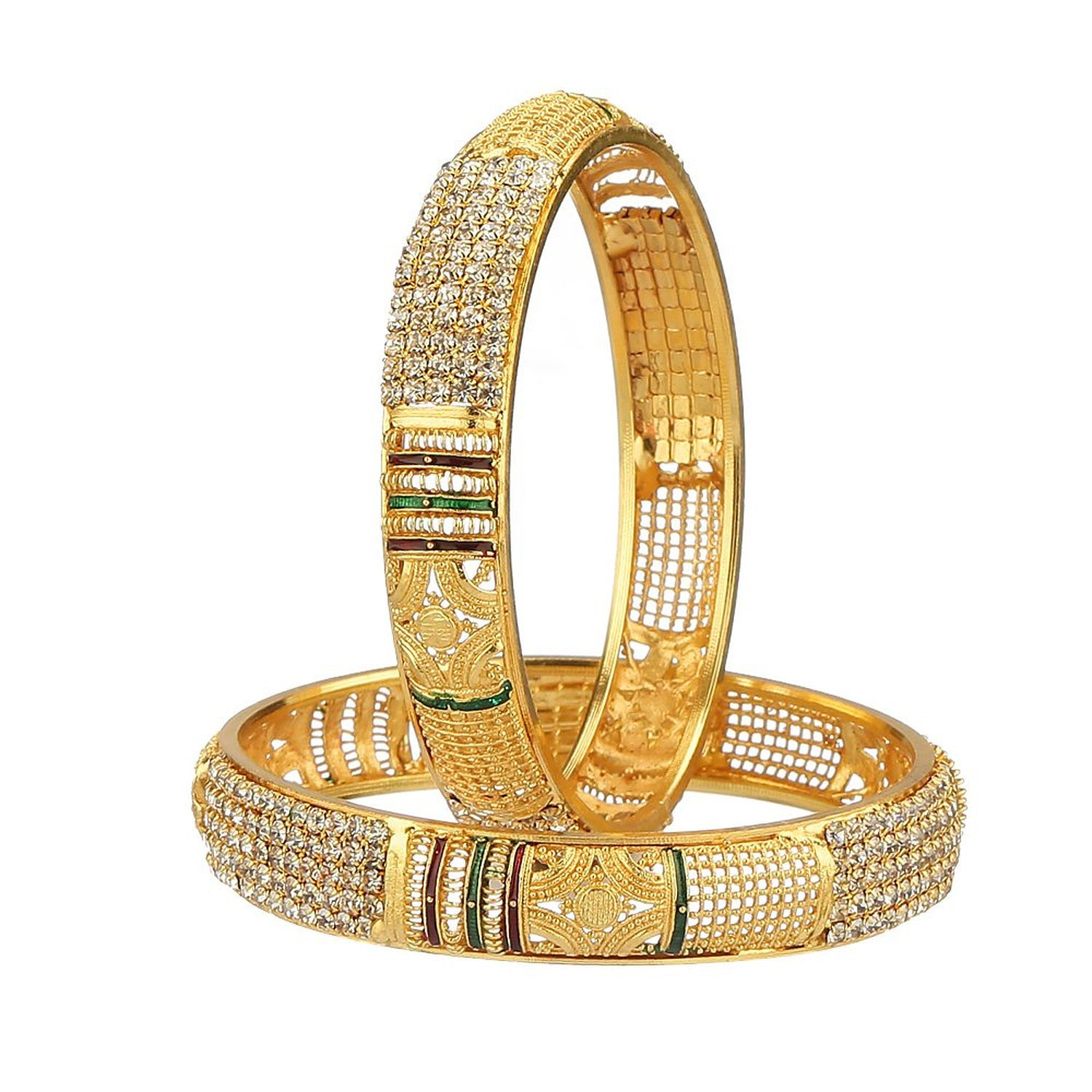 Buy YouBella Traditional Jewellery Gold Plated Bangles for Women ...