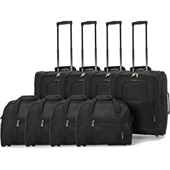 British Airways Maximum 56x45x25cm & 40x30x15cm Main & Additonal Second Hand Luggage Cabin Bags - Pack the Max & Carry Both on Free with BA! (4 x BLACK)