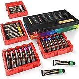Set med Gouache Färger Från Arteza, 24 Premium Färger x 12 ml, Med Förvaringslåda, Rika Pigment, Färgstarka, Giftfria Färger,