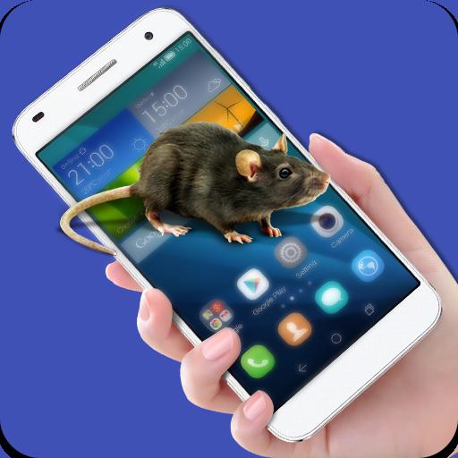 Mäuse laufen im Telefon