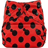 Bumberry Reusable Diaper Cover Without Insert (Lady Bug, Multicolor)