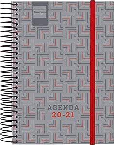 Finocam – Agenda Course 2020-2021 E8 – 120 x 171 1 Day Page Spirit Nobel Red Catalan