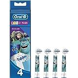 Oral-B Kids Testine di Ricambio per Spazzolino Elettrico con personaggi Disney il Meglio di Pixar, Confezione da 4, Testina P