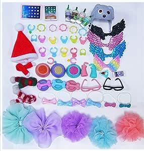 al/éatoires colliers de boissons pour lunettes pour chats et chiens Lot de 10 accessoires TTPets LPS