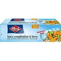 Albal 60 Sacs Congelation, Lien de Fermeture, Ouverture Large, Resistant, Petits, 18 x 25 cm