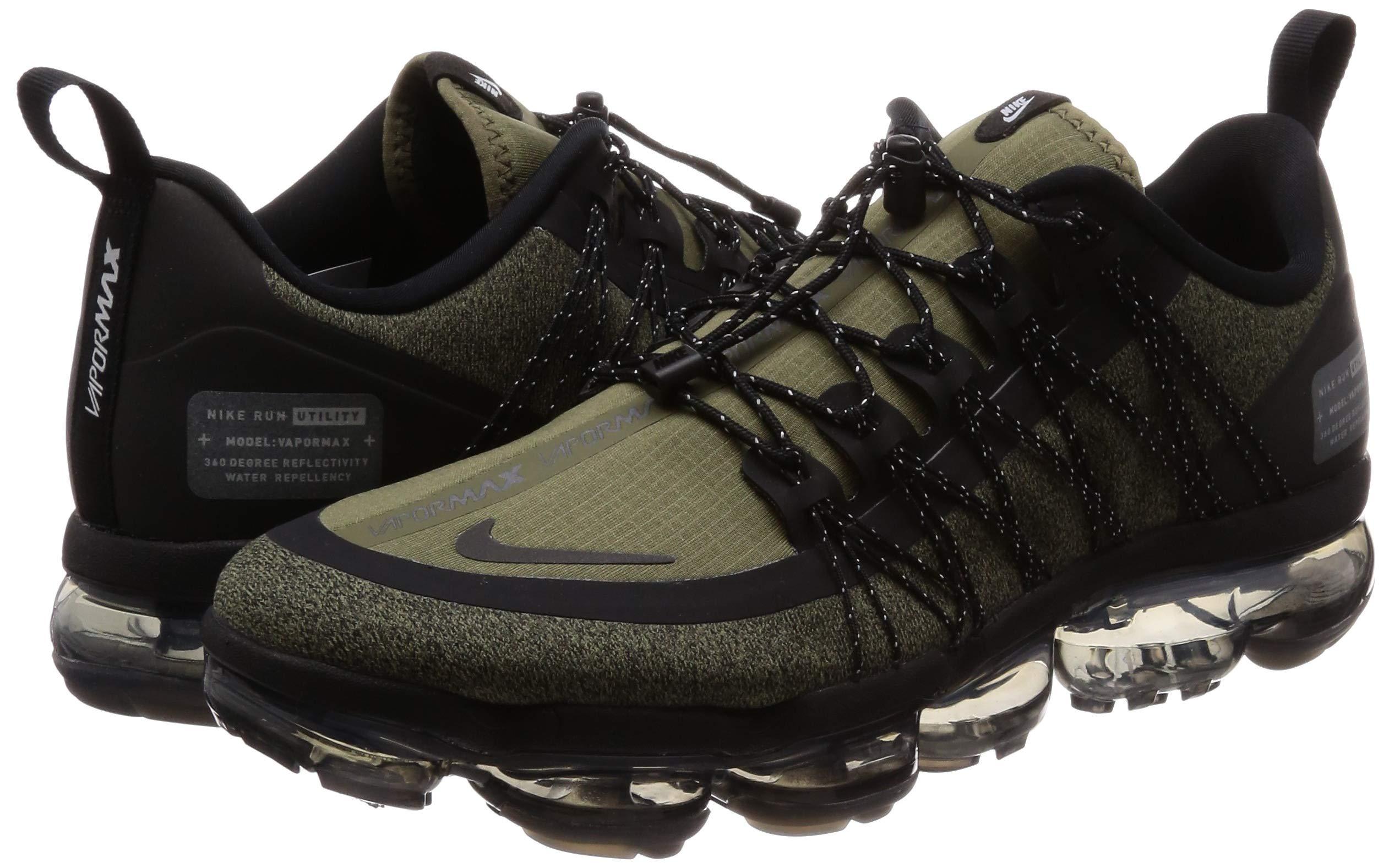81KsnBONfqL - Nike Men's Air Vapormax Run Utility, Medium Olive/Reflect Silver