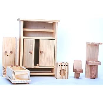 Beetest/® - Mini Dollhouse di Legno Mobili Camera da Letto per Case ...