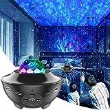 LED Sternenhimmel Projektor, Rotierendes WasserwellenproJektorlicht, Ferngesteuertes Nachtlicht, Farbwechselnder Musikplayer