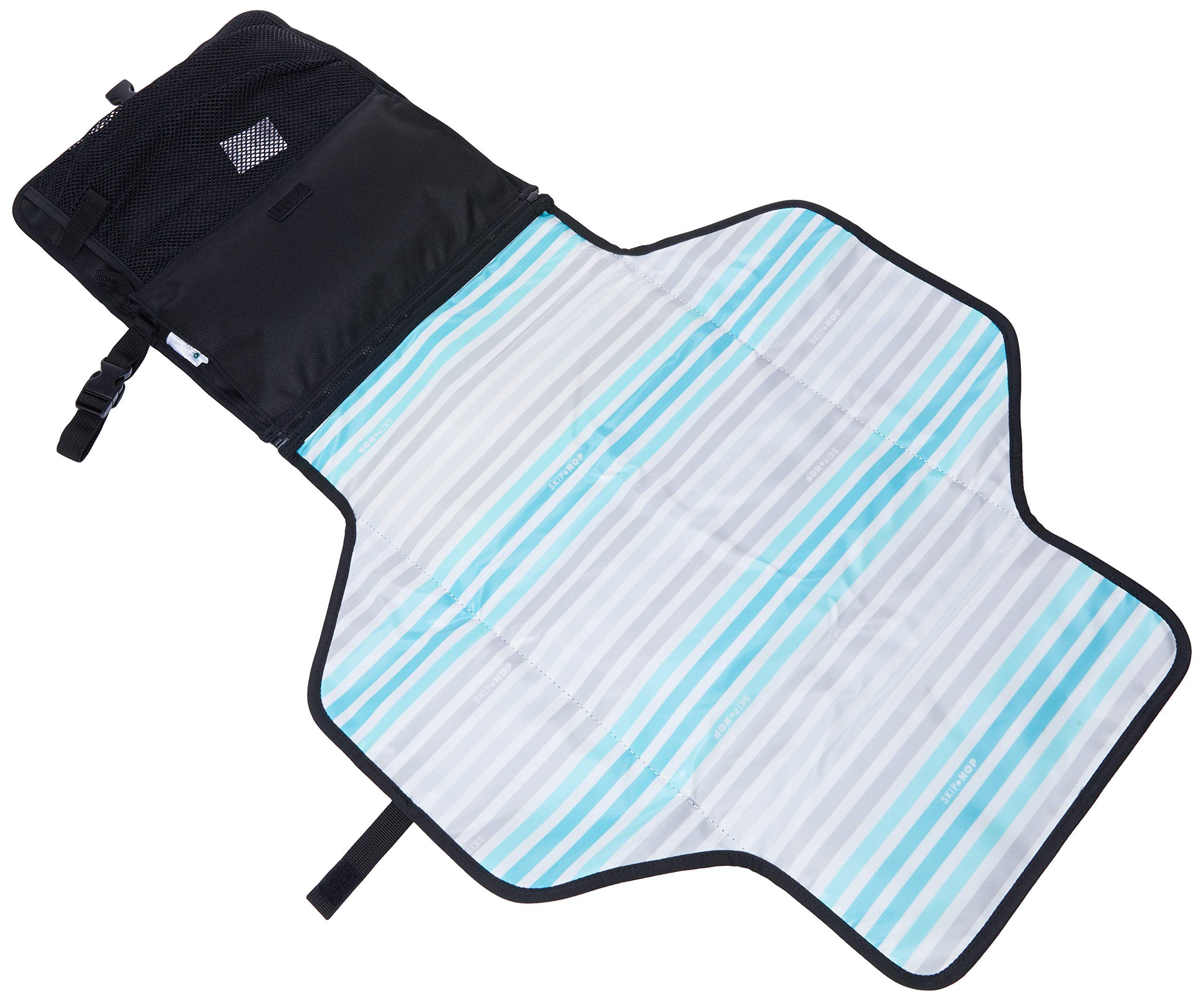 Skip Hop Pronto Signature Changing Set, Black Skip Hop Changing pad: extra-wide for wiggly babies. wipes clean. Two-in-one: pad zips off for independent use Translucent wipes case: see-through for timely reloads 5