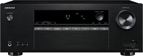 Onkyo TX-SR252 (B) Heimkinoreceiver (5X 100 Watt, 1080p, Dolby TrueHD/DTS-HD, 4X HDMI, HDCP 2.2, 192 kHz/24-Bit, MP3/WMA/AAC -auf-USB) schwarz